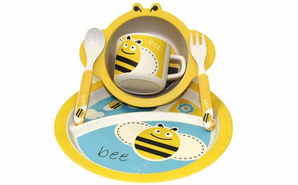 детский набор из тарелки и чашки